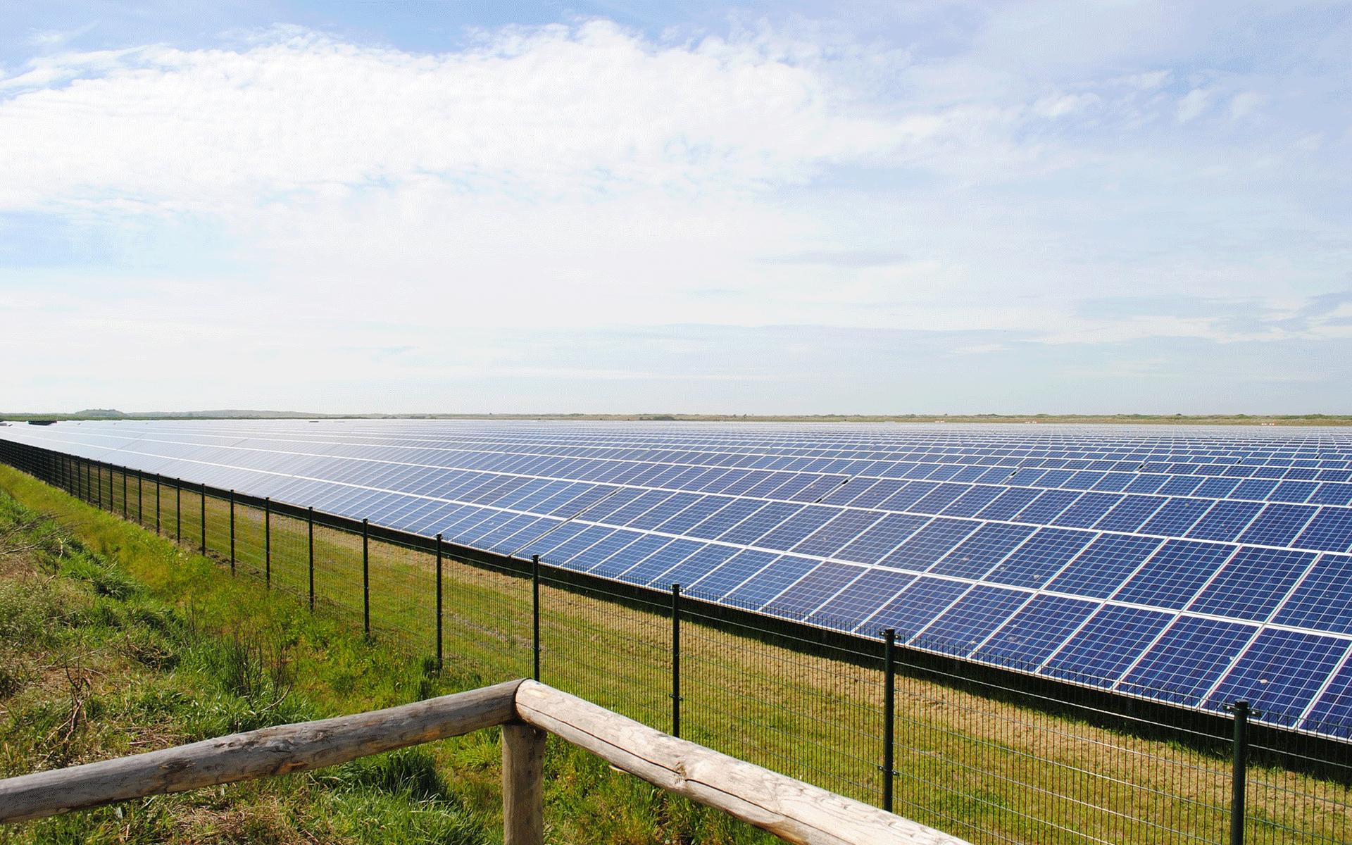 energia solare pannelli solari campo
